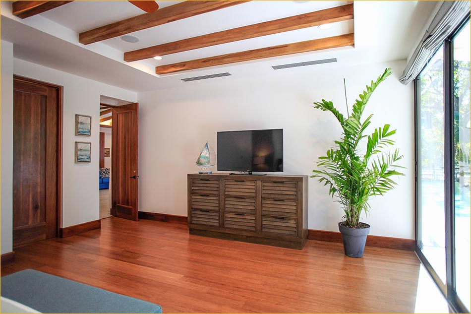 Lavish tropical living in Mal Pais Costa Rica.  Master bedroom with private en-suite bathroom.