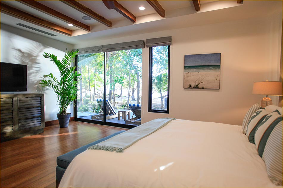Beachview from master bedroom, Costa Rica luxury 6 bedroom vacation rental by private owner.