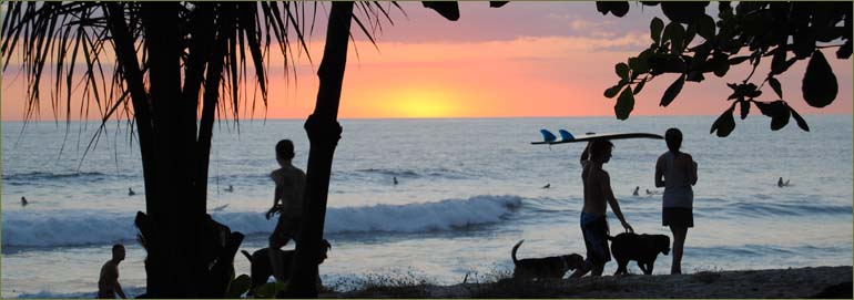 Golden sunsets on the shore of Costa Rica's private luxury villa in Saint Teresa.